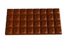 Chocolate bar on white Royalty Free Stock Photo