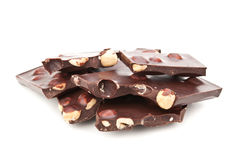 Chocolate Bar With Nuts Royalty Free Stock Image