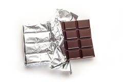 Chocolate bar. In wrapper isolated on white background Royalty Free Stock Photos