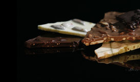 Chocolate bars. Different hand made chocolate bars Stock Images