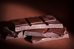 Chocolate bars Royalty Free Stock Images