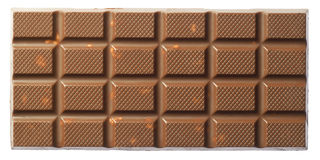 Chocolate bars. Are on a white background Royalty Free Stock Photo