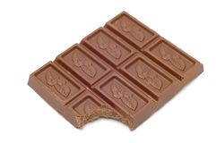 Chocolate in bars royalty free stock image