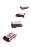 Chocolate bars. Isolated on white Royalty Free Stock Images