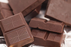 Chocolate bars background Royalty Free Stock Image