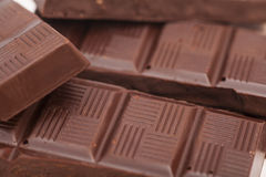 Chocolate bars background Stock Photos