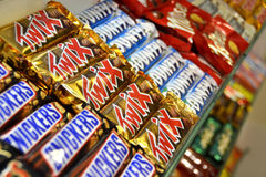 Chocolate bars in a candy store (1) Stock Photo
