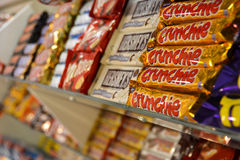 Chocolate bars in a candy store (2) Stock Image