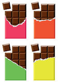 Vector chocolate bars Royalty Free Stock Images