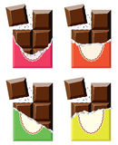 Vector chocolate bars Stock Images