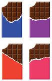 Vector chocolate bars Stock Photography