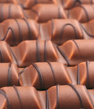 Chocolate bars decorated Stock Image