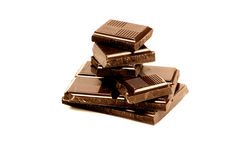 Chocolate bars (golden) Stock Image