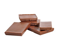 Chocolate bars isolated. On white background Royalty Free Stock Photo