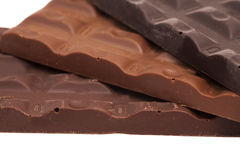 Chocolate bars isolated Stock Image