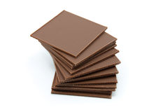 Chocolate in bars isolated on white Stock Photo