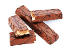Chocolate bars Royalty Free Stock Photos