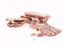 Chocolate bars isolated Royalty Free Stock Photos