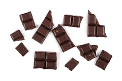 Chocolate bars isolated on white Royalty Free Stock Photos