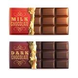Chocolate Bars Set Stock Photo