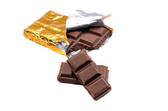 Chocolate bars stack Stock Images