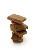 Chocolate bars tower Royalty Free Stock Photo