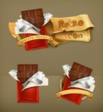 Chocolate bars, vector icons Stock Photography