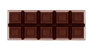 Chocolate bars on white background Stock Photos