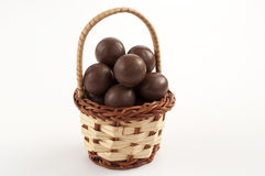 Chocolate basket Royalty Free Stock Photography