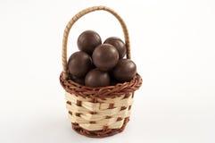 Chocolate basket royalty free stock photography