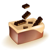 Chocolate in a basket. Сhocolate with a milk filling in packing Royalty Free Stock Photo