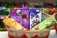 Chocolate basket Stock Images