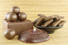 Chocolate bath Royalty Free Stock Photo