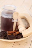 Chocolate bath Royalty Free Stock Photography