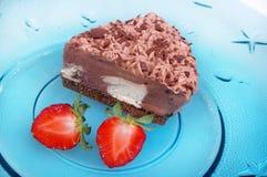 Chocolate bavarian cream cheesecake Royalty Free Stock Photography