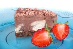 Chocolate bavarian cream cheesecake Royalty Free Stock Photos