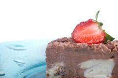 Chocolate bavarian cream cheesecake Royalty Free Stock Photo