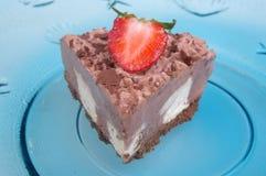 Chocolate bavarian cream cheesecake Royalty Free Stock Image