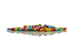 Chocolate Beans, reflected Royalty Free Stock Photo