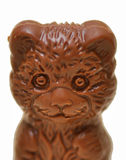 Chocolate Bear. Smiling bear chocolate figurine for Easter party Stock Images