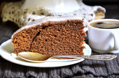 Chocolate and beer cake. Stock Photos