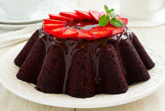 Chocolate Beet  cake Stock Images