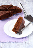 Chocolate and beetroot cake Stock Photos