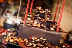 Chocolate belga imagen de archivo libre de regalías