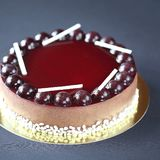 Chocolate Berry Mousse Cake Royalty Free Stock Image