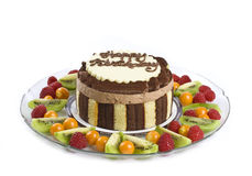 Chocolate Birthday Cake Stock Image