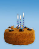 Chocolate Birthday Cake. royalty free stock images