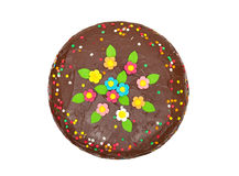 Chocolate birthday colorful cake Royalty Free Stock Photo