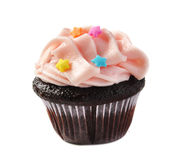 Chocolate Birthday Mini-cupcake Stock Images