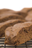 Chocolate Biscotti. Freshly baked Italian Chocolate Biscotti Cookie on a cooling rack stock photos